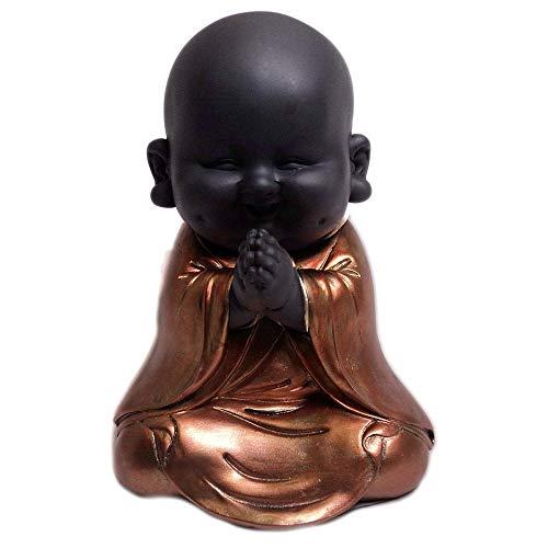 Statuetta a forma di piccolo Budda in meditazione, colore: oro rosa