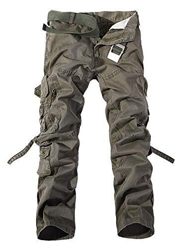 TRGPSG Pantalones Casuales Pantalones Multibolsillos Pantalones Deportivos de Combate de algodón para Hombres Pantalones Militares de Carga