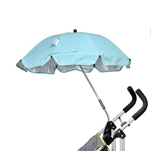 GOHHK Paraguas para Cochecito de bebé, Conjunto de Paraguas para bebé, Protector Solar a Prueba de Lluvia, protección UV, Soporte, sombrilla Ajustable para Exteriores