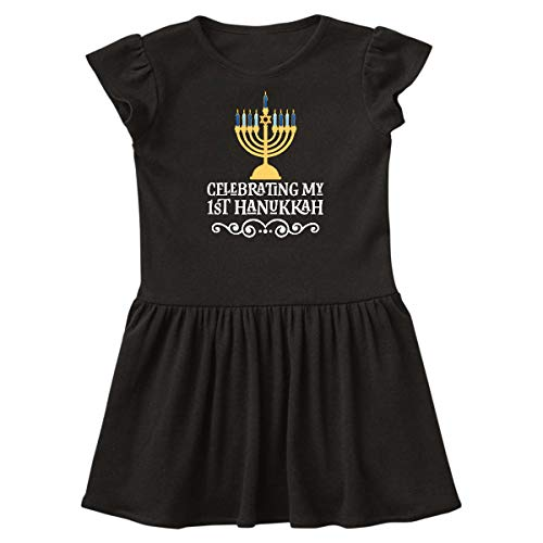 inktastic My First Hanukkah Infant Dress 12 Months Black 3c813