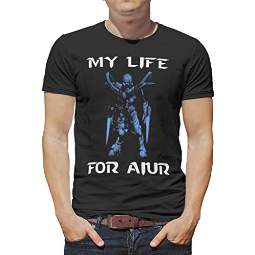 CATNEZA Heren Anime Mijn Leven voor Aiur Gedrukt Zomer ComfortSoft Tshirts Workout Sport Grafische Tees Zacht Materiaal Softstyle Top