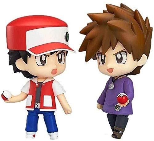 dsfew Figuras De Pokemon Gary Oak Ash Ketchum Mew Figura De AccióN Disfraz De EnsueñO para NiñOs Regalo De CumpleañOs Y DecoracióN De Oficina Juego De 2 Piezas 10cm
