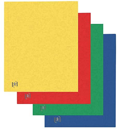Oxford Aktendeckel A4, aus Karton, sortiert mit 4 Farben, 10 Stück