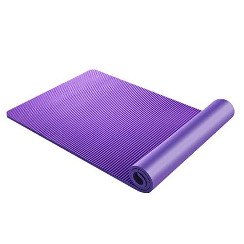 Xhuanggs Yoga Mat Pilates Mat Large Extra Thick Natural Rubber Antideslizante Suave y cómodo Adecuado para principiantes con mochila y correa para el hombro