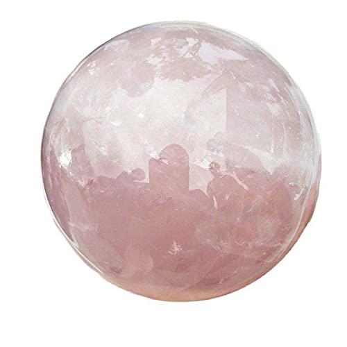 CMJGHDL 100mm diámetro 100% rosa natural bola de cristal tratamiento bola viento...