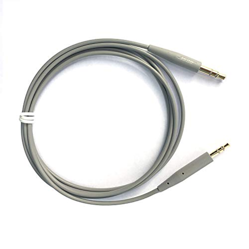 Bose 3.5mm to 2.5mm Stereo Cable for QuietComfort 3, 25, and 35 Noise Cancelling Headphones Replacement Cable bose soundtrue Replacement Cable bose Headphones (Silver)