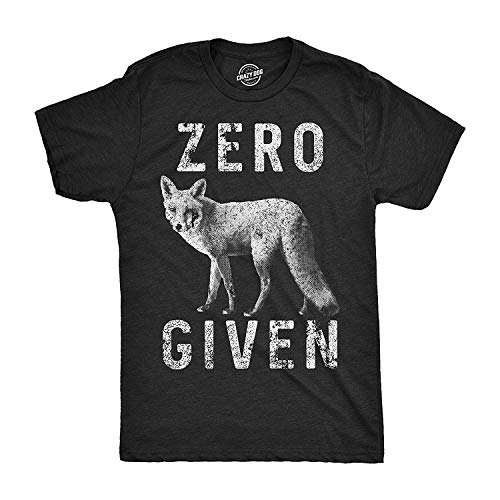 Mens Zero Fox Given camiseta divertida Wordplay Animal Tee para chicos
