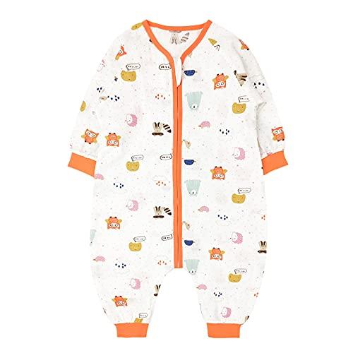 Bebé Saco de Dormir con Pies Verano Pijama Manga Larga Mono Muselina de Algodón Transpirable Mamelucos Niños Niñas Unisex 2-3 años Búho rosa
