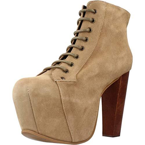 Jeffrey Campbell LITA Bottines Boots Femme Brun Clair 40 EU