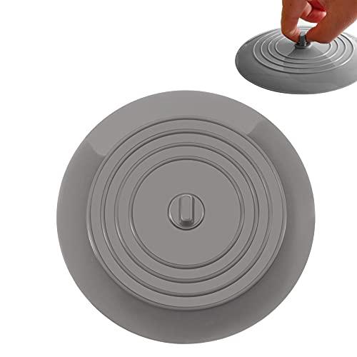 JeoPoom Tappi di Scarico 15cm, Tappo Universale in Silicone per Vasca per cucine Bagno Lavanderia Doccia, Accessori per Lavelli(Grigio)