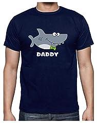 Camiseta para Hombre - Regalos para Padres, Regalos para Papá Primerizo - Daddy Shark -