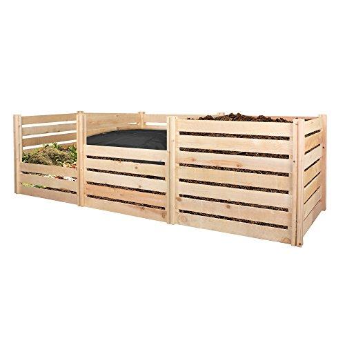"Greenes Fence RCCOMP48 Cedar Wood Composter, 48"" L x 48"