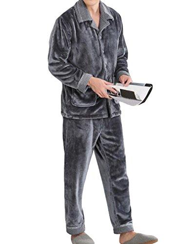 Conjunto De Pijamas para Hombre Otoño E Invierno Gruesa Cá
