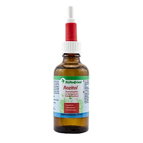 Röhnfried – Rozitol | Freie Atemwege | Reinigt und desinfiziert die Nasen von Brieftauben | (50 ml)