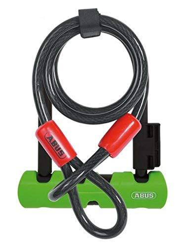 ABUS 34597-5 410/150HB180 SH34 + 10/120 Ultra Mini Fahrradschloss, grün, HB180
