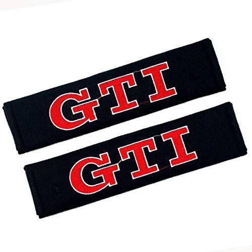 WYJBD Car Seat Belt Cover Shoulder Pads, Suitable for cotton HK-S Protection Shoulders Comfort Padding Guard Safety Clip (Color : GTI, Size : 2Pcs)
