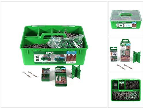 SPAX Green Box Terrasse 5 x 60 Schrauben Set Edelstahl 25-28 m² (5000009030009) Zylinderkopf Torx T-STAR plus T25 CUT