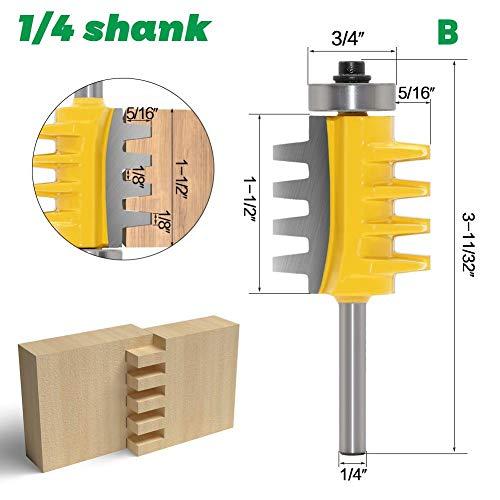 Minear Kegelförmige Schaftfräsen Fingergelenk Fräser Bit Wende Fräser Fräser Holzfräser für die Holzbearbeitung