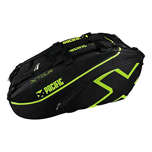 pacific Taschen X TOUR - Racket Bag 2XL (Thermo), black/lime, Standard, PC-7143.00.40