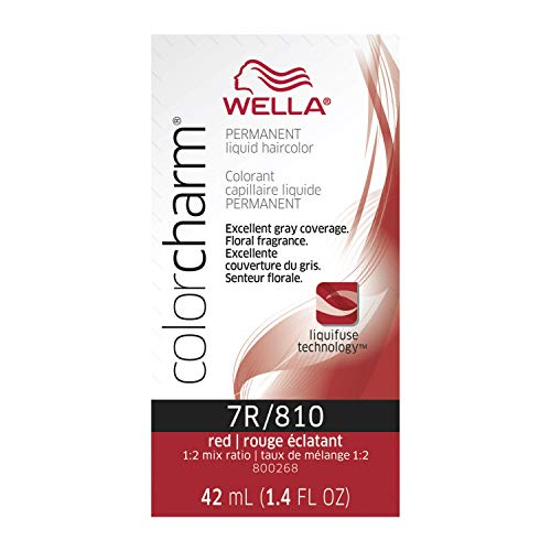 wella hair dyes WELLA Color Charm Permanent Liquid Hair color 7R Red
