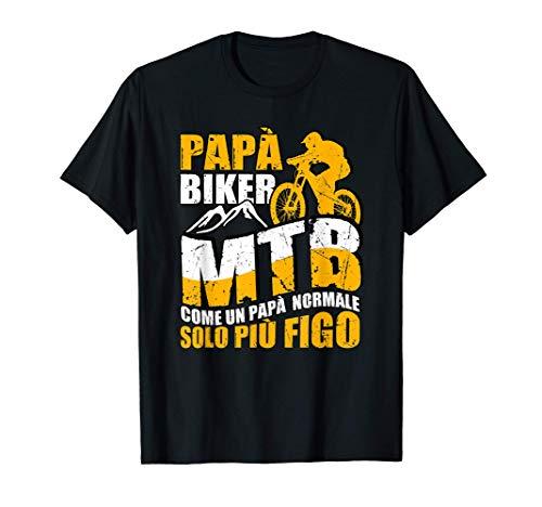 Uomo Papa Biker MTB Uomo Mountain Bike Divertente Bici Regalo Maglietta