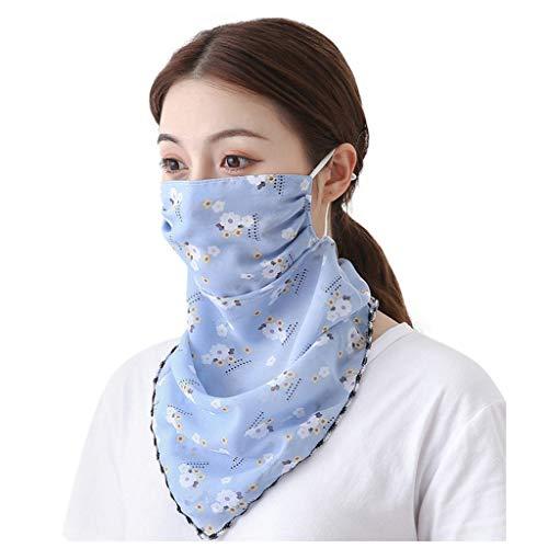 FRAUIT dames mondbescherming halsdoek Face Shield multifunctioneel gezichtsmasker zomer UV-bescherming ademende chiffon doek zonwering winddichte bivakmuts Face scarf