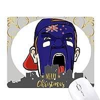 ニュージーランドの叫び顔の化粧キャップ クリスマスイブのゴムマウスパッド