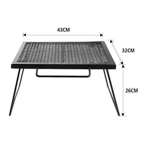 YOLERメッシュテーブルスチールテーブル折りたたみアウトドアキャンプ用品専用キャリーバッグ付43×32×26cm