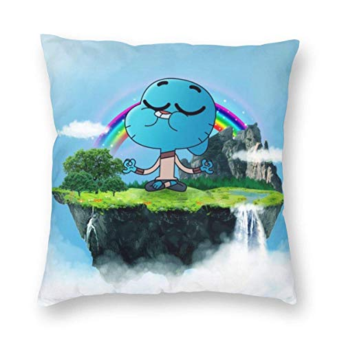 XCNGG Pillow Case Amazing World of Gum_Ball Throw Pillow Covers Comfortable Pillow Cushion for Decoration 18x18 Inch