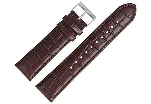 Hugo Boss Uhrenarmband 22mm Leder Braun Kroko - 659302560