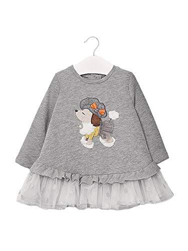 Mayoral 10-02965-087 - Vestido para bebé niña 18 Meses