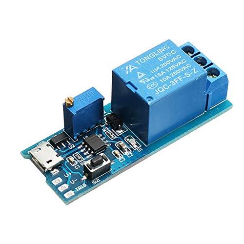 Módulo de relé electrónico Con una fuerte capacidad anti-interferencia y función de protección de flujo continuo 5pcs 5-30V 10A Amplio módulo de relé de tensión de disparo de retardo del temporizador
