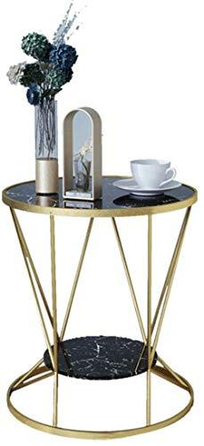 Nachttisch Nachttisch kleiner Couchtisch Wohnzimmer Schlafzimmer Stauraum kleiner runder Tisch Sofa Beistelltisch Beistelltisch (Farbe: schwarz)