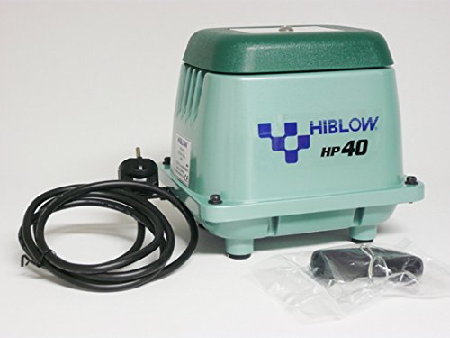 HiBlow HP-40 Komplettpaket m. Verteiler, Schlauch und Luftsteinen 40 L/min. 38W