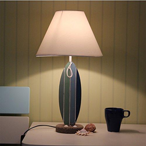 HEAQS Creative Art bureaulamp, slaapkamer-leeslamp met TC-doek lampshade Home LED E27 verlichting lamp, 30cm * 51cm T-20-4-11