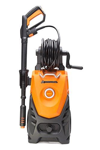 YardForce EW U15 Hochdruckreiniger, 2000W - Leistungsstarker Elektro Druckreiniger mit Total-Stop-System & Schlauchrolle - ideal für Terrasse, Auto oder Einfahrt