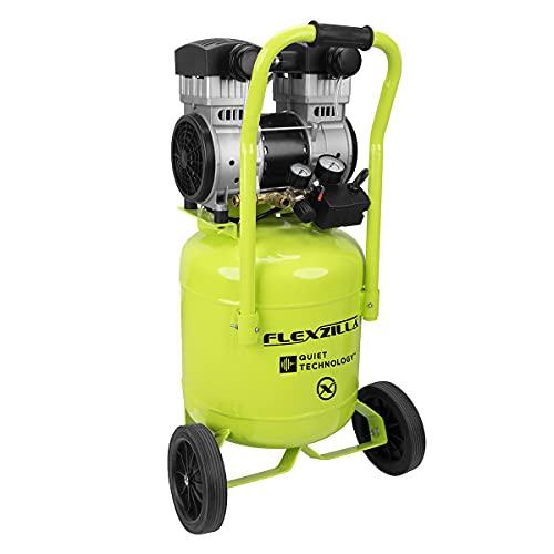 Flexzilla Portable Air Compressor with Quiet Technology, 2 HP, 10 Gallon, Industrial Grade Pump