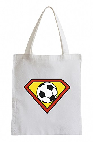 Superman Fussball Football Sport WM EM Fan Jutebeutel