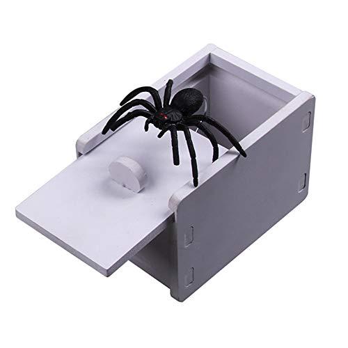 Coomir Broma Holz Spider Scare Box Case Realistisch Überraschung Spielzeug Kinder Geschenk