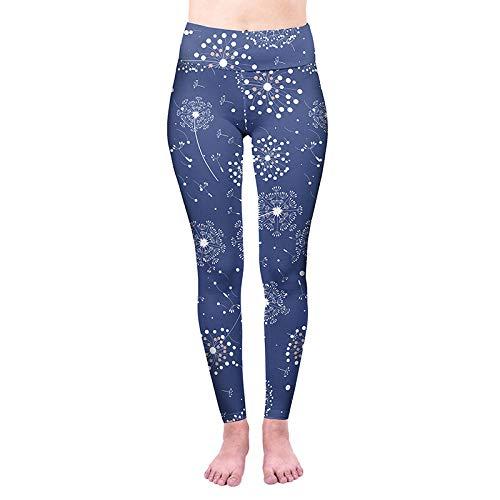 ArcherWlh Leggings Mujer,Nuevas Leggings de impresión Digital de Alta Cintura para Mujer Pantalones de Yoga para Mujer Pantalones Deportivos Leggings-Azul_SG