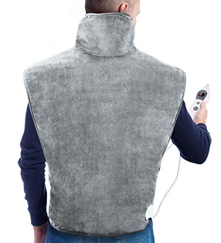 Hosome 60 x 90 cm Heizkissen für Rücken Nacken Schulter, Elektrisches Wärmekissen mit 120 Minuten...