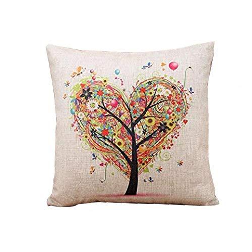 Almohada Cojín Escudo Tiro Patrón Escudo Del Amor Del Árbol Funda De Almohada Plaza Home Sofá Decoración Creativa Del Corazón Ideal Opción Práctica