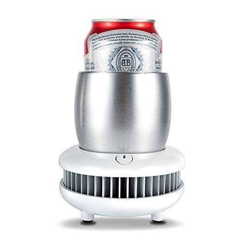 TXOZ-Q Portátiles taza de café de la taza del refrigerador del camping Enfriadores de enfriamiento Placa Bebidas Chiller Copa eléctrico rápido enfriamiento de la máquina con la taza de aluminio for Mi
