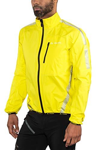 VAUDE Luminum Performance Veste imperméable de Cyclisme Homme, Canary, FR : S (Taille Fabricant : S)