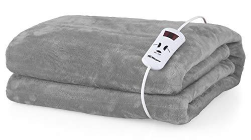 Orbegozo MAH 1700 - Manta eléctrica, 10 niveles de potencia, lavable a mano y máquina, temporizador, apagado automático, mando extraíble, 100 x 170 cm, 150 W