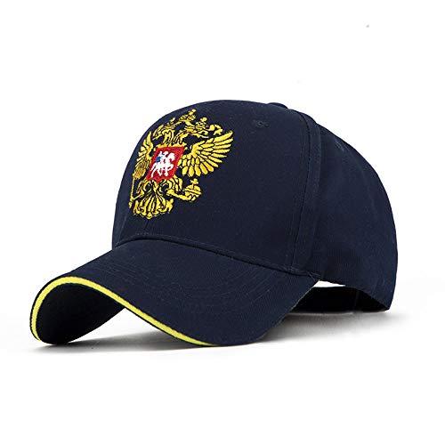 Baseballmütze Männer Frühlingshut Frauen Knochen Unisex Hysteresenkappe Einstellbare Kappen Russische Emblem Kappe Weiblich Männlich Hüte @ Navy_Blue