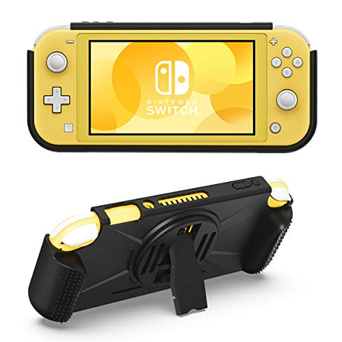 MoKo Case for Nintendo Switch Lite, Durable Shock-Absorbant TPU Cover with Kickstand, Anti-Slip Grip & 2 Game Card Slots for Nintendo Switch Lite Console