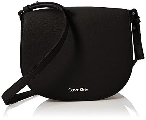 Calvin Klein Metropolitan Saddle Bag - Borse a tracolla Donna, Nero (Black), 7x18x26 cm (B x H T)