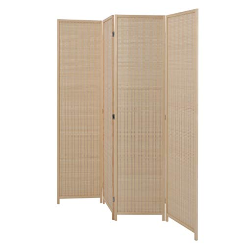 ALPHA-HOME-Bamboo-Room-Divider-Tall-Freestanding-Double-Hinged-Natural-Portable-Folding-Room-Screens