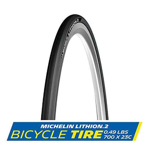 MICHELIN Lithion 2 Tire, 700 x 23mm Black/Blue by
